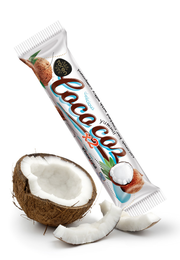 Coco Coz Coconut Bar Covered with Milk Compound