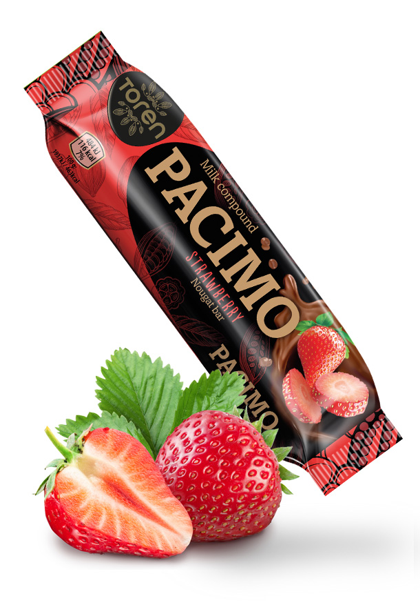 Pacimo Nougat Bar Strawberry