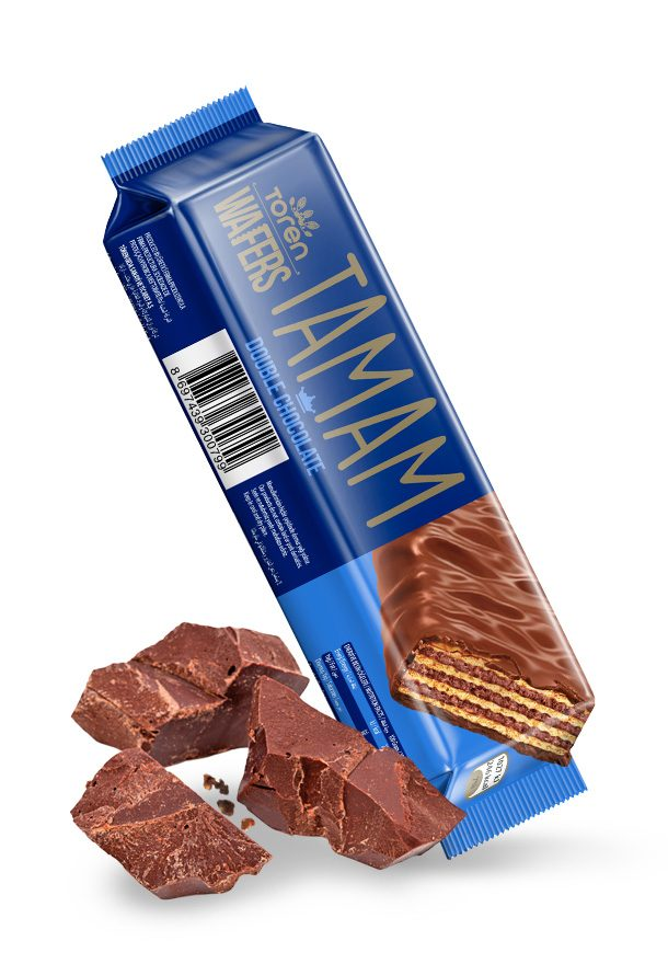 Tamam Wafers Milk Chocolate Coated with Hazelnuts Cream