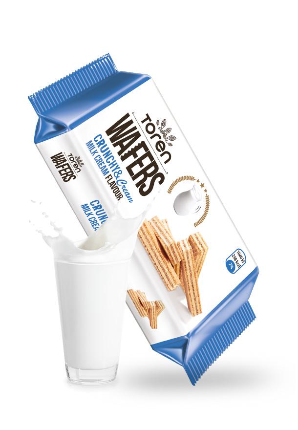 ویفر بريميوم بالكريمة والحليب.